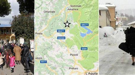 Terremoto nel Centro Italia, paesi bloccati dalla neve. Scuole evacuate a Roma