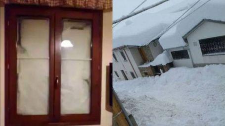 Terremoto, gente bloccata sotto la neve