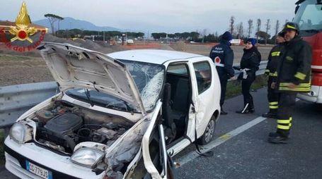 Uno dei due veicoli coinvolti nell'incidente