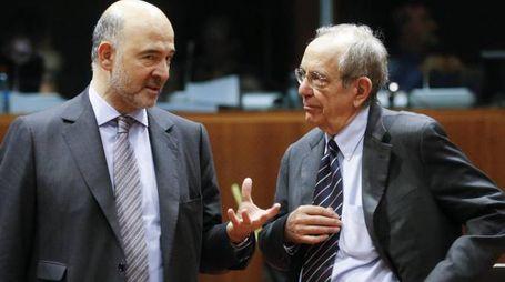 Pierre Moscovici e Pier Carlo Padoan (Ansa)