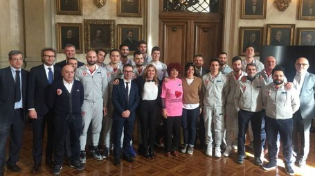 La squadra di Crema con il ministro Valeria Fedeli in Senato