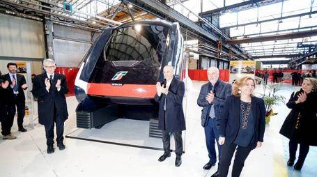Hitachi inaugurazione lavorazione treno 'Rock' (Foto Acerboni/FotoCastellani)