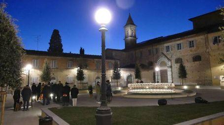 L'inaugurazione di piazza Cardinale Niccolò (foto Attalmi)
