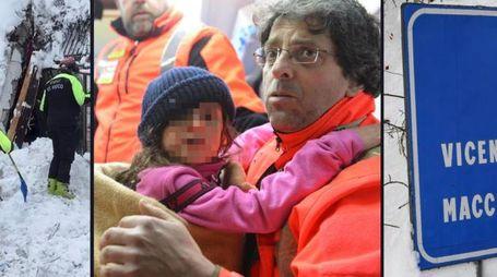 Hotel Rigopiano, salvati quattro bambini (combo)