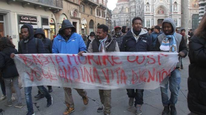 I somali manifestano in città (New Press Photo)
