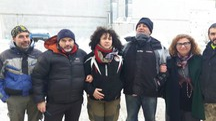 La delegazione dalla Montagna pistoiese col sindaco di Posta, Serenella Clarice