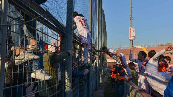 Il gol di Marchi del Mantova nell'ultima partita
