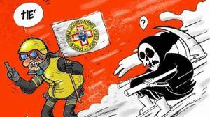 La sbeffeggiante risposta del sindaco di Amatrice a Charlie Hebdo (Dire)