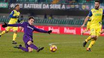 Chievo-Fiorentina 0-3, lo splendido gol di Chiesa (La Presse)