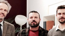 Fabio Leonardi e Gerry Grassi  del centro cecinese Tib e Antonio Laudazi di Marte5 Servizi digitali