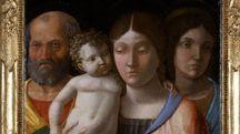 """A. Mantegna, """"Sacra Famiglia con una santa"""" (particolare)"""