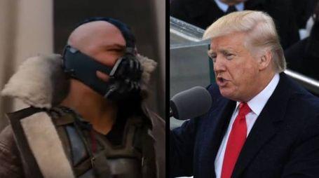 Combo tra Bane, il cattivo di Batman, e Trump