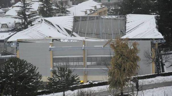 Il palazzetto di Villa Pigna dopo il crollo