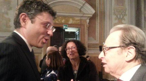 Il rettore Francesco Ubertini con Leone Sibani (Dire)