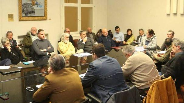 La recente riunione del 'controconsiglio' (foto Luca Ravaglia)