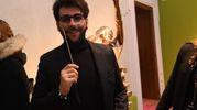 Ignazio Boschetto 'indossa' i baffi di Dalì (Foto Schicchi)