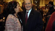Romano Prodi in Santa Lucia (Ansa)