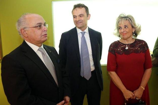 Daniele Ravaglia con Andrea Rizzoli e la moglie Patrizia (Schicchi)
