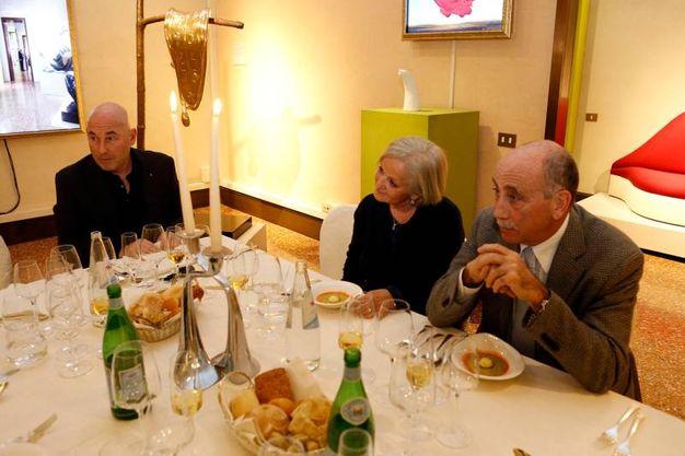 L'editore Andrea Riffeser Monti, Ester Rondi e Paolo Guelfi (Schicchi)