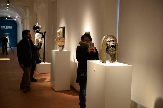 Gli interni della mostra 'Art déco' (Foto Frasca)