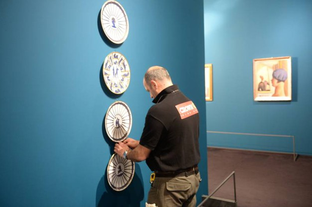 Allestimento della mostra Art déco (Foto Frasca)