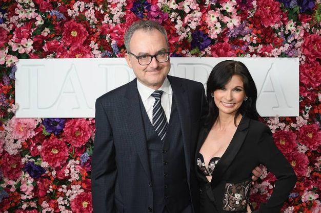 Il proprietario del brand Silvio Scaglia e la direttrice creativa Julia Haart (LaPresse)