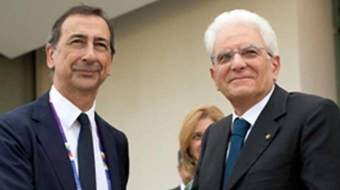 Beppe Sala e Sergio Mattarella