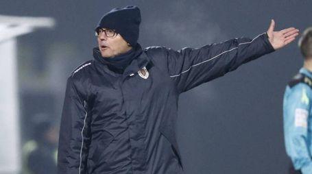 L'allenatore della Reggiana Leonardo Menichini