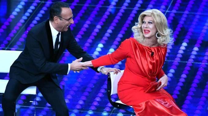 Sanremo, il discusso siparietto di Raffaele-Milo (Ansa)