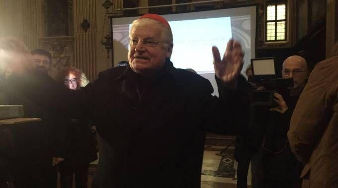 Il cardinale Angelo Scola all'incontro con i responsabili