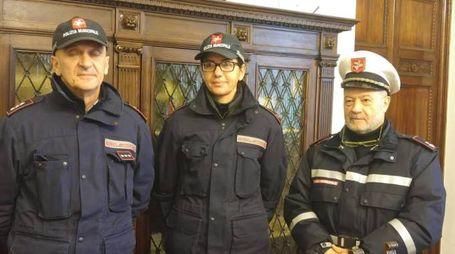 Agenti e comandante della polizia municipale