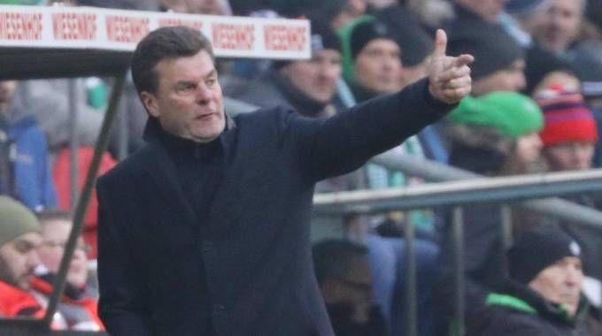 Dieter  Hecking, allenatore del Borussia Moenchengladbach