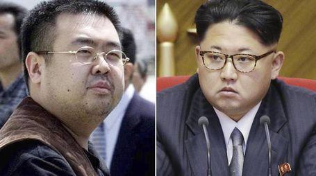 Kim Jong Nam e Kim Jong Un (Ansa)