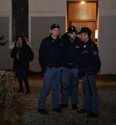 La polizia sul posto