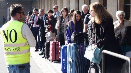 Lo sciopero dei taxi (New Press Photo)