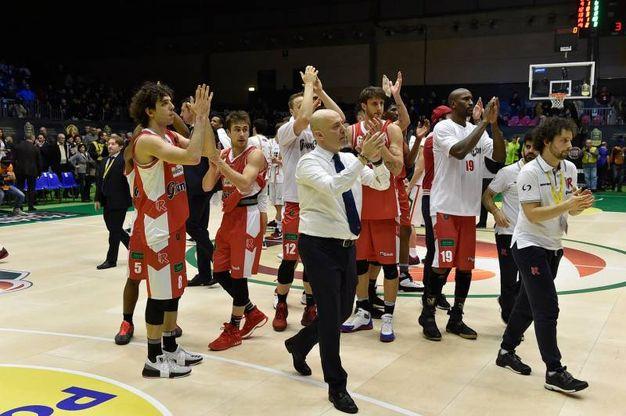 L'esultanza a fine partita (foto Ciamillo-Castoria)