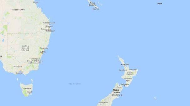 Nuova Zelanda e Nuova Caledonia parte di un continente sommerso (google maps)