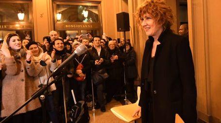 Fiorella Mannoia alla Feltrinelli di piazza Ravegnana (fotoSchicchi)
