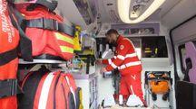 Sul posto ambulanza e automedica
