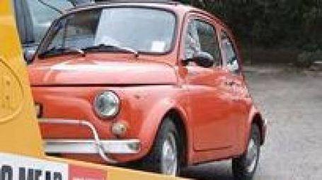 Una delle Fiat 500 rubate e poi ritrovate
