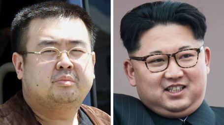 Kim Jong-nam e Kim Jong-un (Afp)