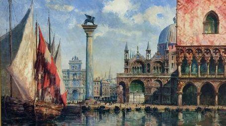 """Di Ludwig Theodor Choulant, un dettaglio de """"Il Palazzo dei Dogi di Venezia"""", dono del re di Sassonia"""