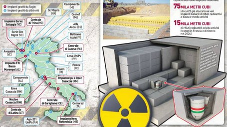 Rifiuti nucleari in Italia, la mappa dei depositi