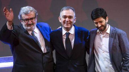 Michele Emiliano, Enrico Rossi e Roberto Speranza (Ansa)