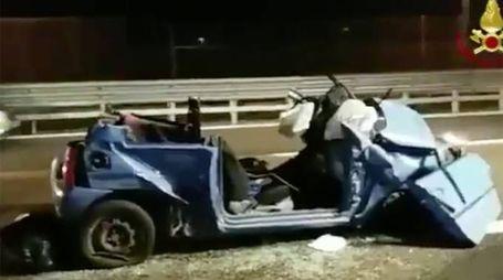 L'incidente mortale in A4 (Foto Zani)