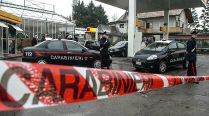 Carabinieri sul luogo del delitto
