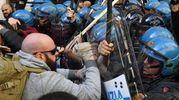 Protesta tassisti (Afp)