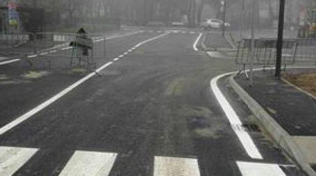 La nuova strada di collegamento tra il sottopasso SS16 e viale Tritone,