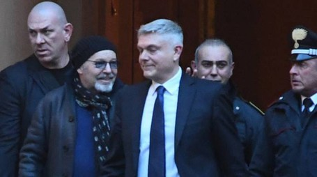 Processo all'ex manager Salvati, Vasco Rossi in tribunale (foto Schicchi)