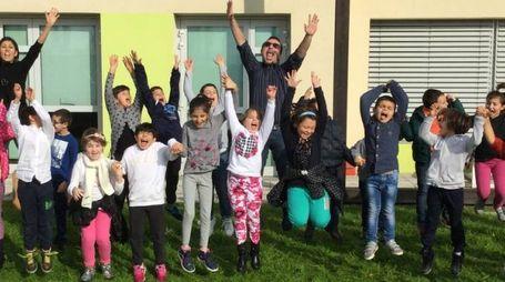 I bambini della scuola di Bagno